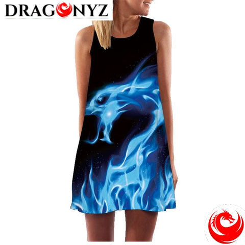 DRAGON DRESS - BLUE