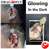 DRAGON EARRINGS - 1 PC WITHOUT PIERCING