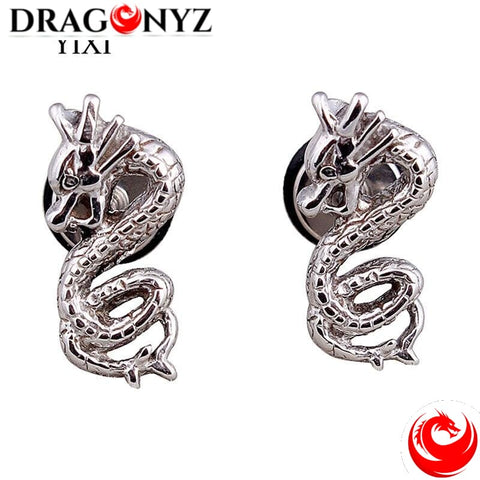 DRAGON EARRINGS ARTY SILVER