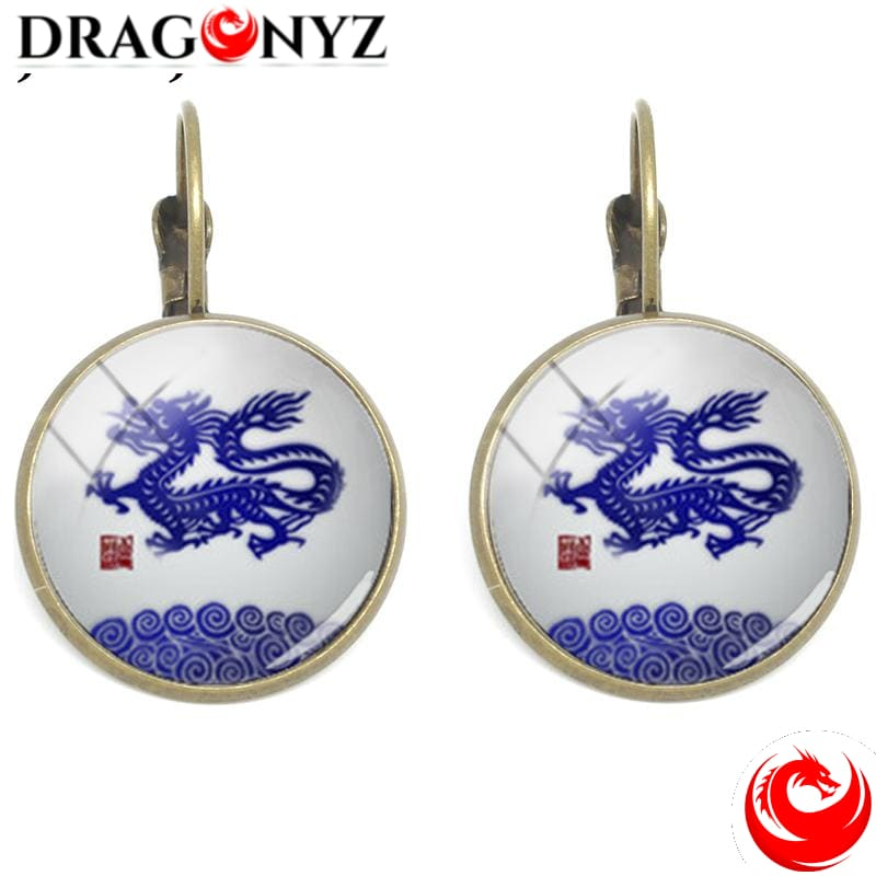 DRAGON EARRINGS - CABOCHON