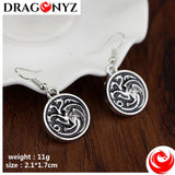 DRAGON EARRINGS - ROUND