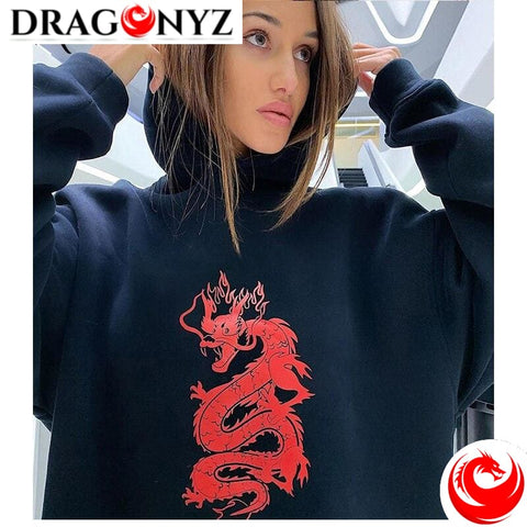 DRAGON HOODIE - RED DRAGON