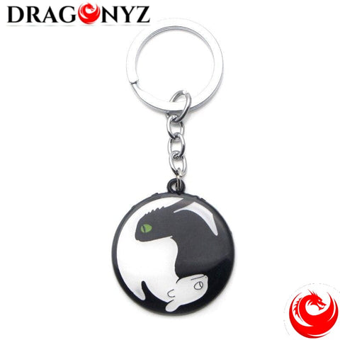 DRAGON KEYCHAIN - BLACK & WHITE