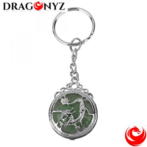 DRAGON KEYCHAIN - NATURAL STONE