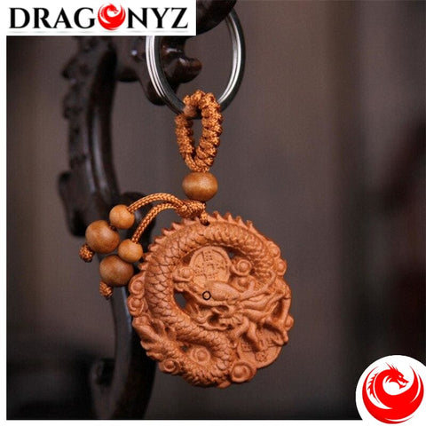 DRAGON KEYCHAIN - WOOD