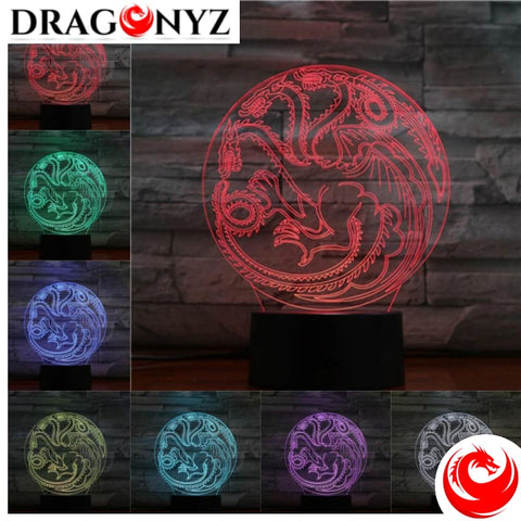 DRAGON LAMP - THREE HEAD