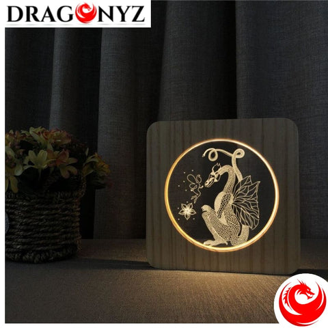 DRAGON LAMP - WOODEN