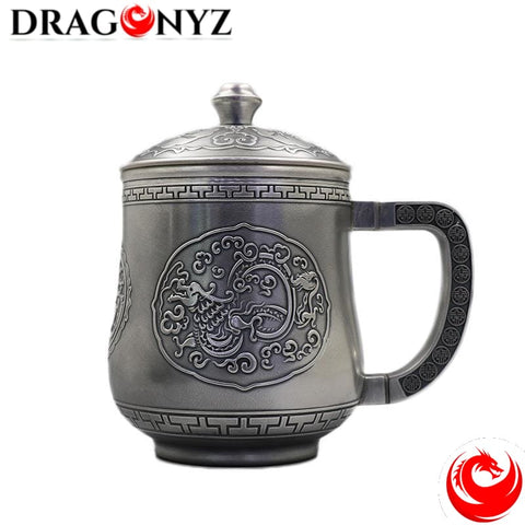 DRAGON MUG - FOOT SILVER