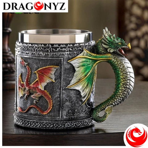 DRAGON MUG - STAINLESS