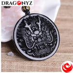 DRAGON NECKLACE - BLACK OBSIDIAN