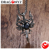 DRAGON NECKLACE - BLACK STONE