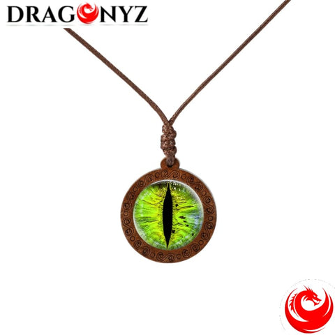 DRAGON NECKLACE - CABOCHON WOOD
