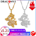 DRAGON NECKLACE - CHINESE WITH ZIRCON