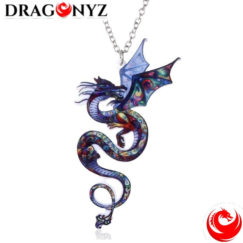 DRAGON NECKLACE - COLORFUL