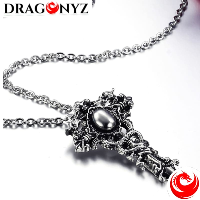 DRAGON NECKLACE - DRAGON CROSS