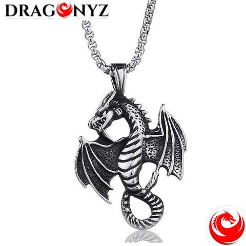 DRAGON NECKLACE - CROSS ANGEL
