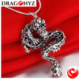DRAGON NECKLACE - DARK SILVER