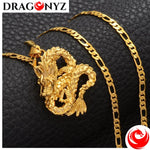 DRAGON NECKLACE - GOLD ORNAMENTS LUCKY