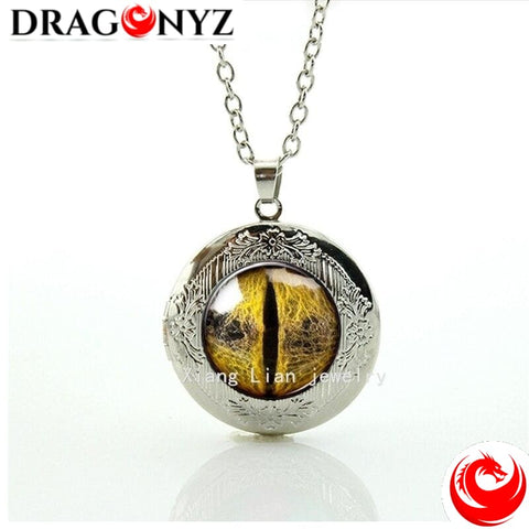 DRAGON NECKLACE - GOLDEN DRAGON EYE