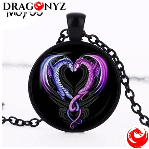 DRAGON NECKLACE - HEART CABOCHON