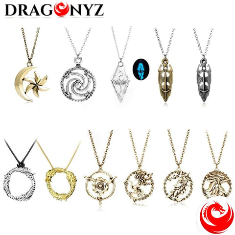 DRAGON NECKLACE - JEWELRY ELDER SCROLLS
