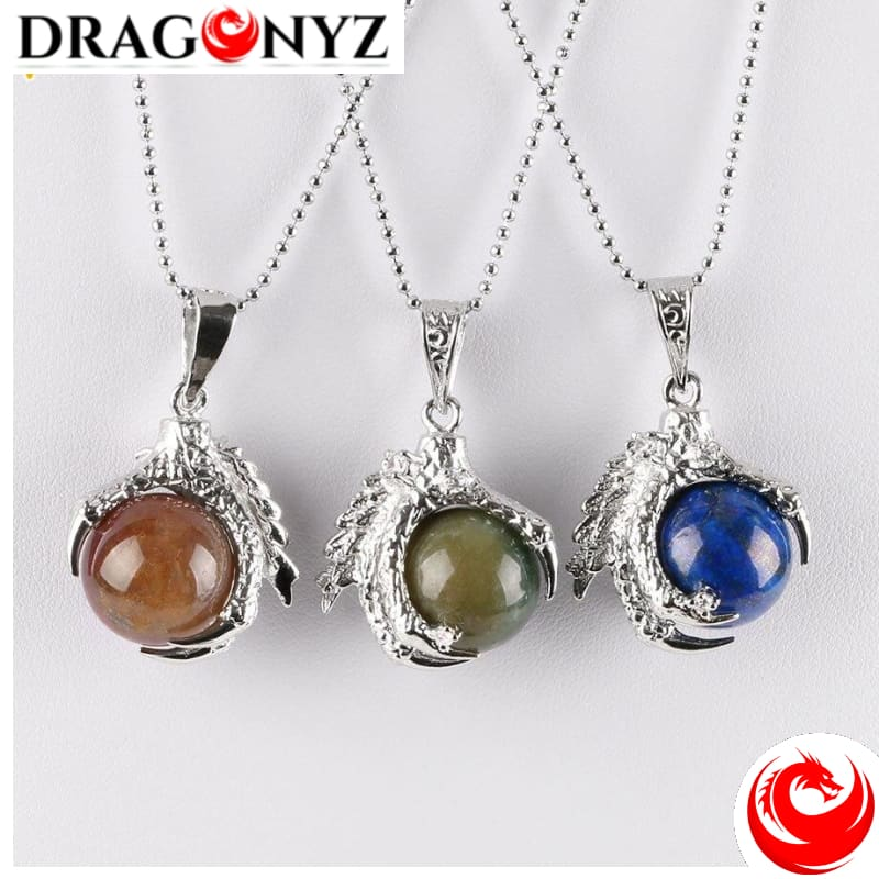 DRAGON NECKLACE - NATURAL CRYSTAL GEM
