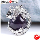 DRAGON NECKLACE - NATURAL STONE BALL
