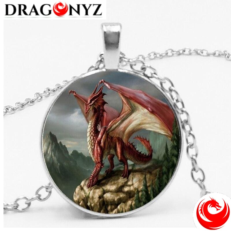 DRAGON NECKLACE - RED CABOCHON