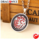 DRAGON NECKLACE - RED THREE HEAD