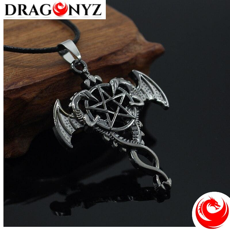 DRAGON NECKLACE - STAR AND DOUBLE DRAGON