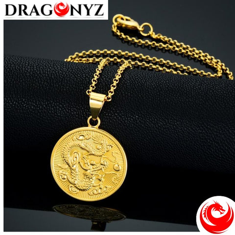 DRAGON NECKLACE - VINTAGE GOLD