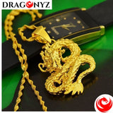 DRAGON NECKLACE - YELLOW GOLD DRAGON