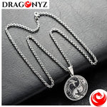 DRAGON NECKLACE - YIN YANG BLACK AND WHITE