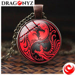 DRAGON NECKLACE - YIN YANG RED