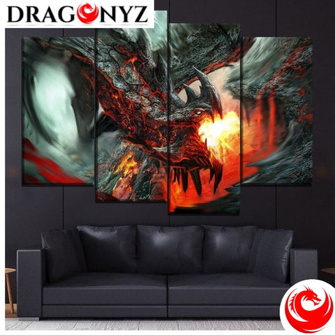 DRAGON PAINTING - FIRE DRAGON 2