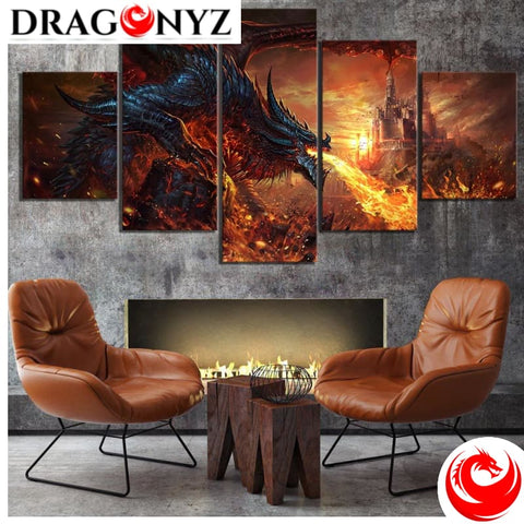DRAGON PAINTING - FIRE DRAGON