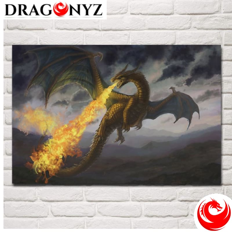DRAGON PAINTING - FIRE DRAGON FANTASY