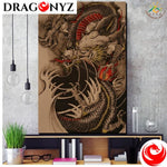 DRAGON PAINTING - FLAMES CHINESE