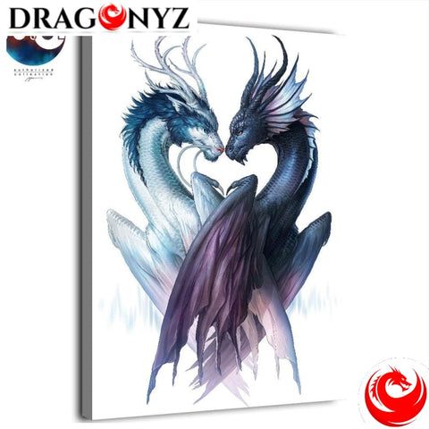 DRAGON PAINTING - DRAGON IN LOVE