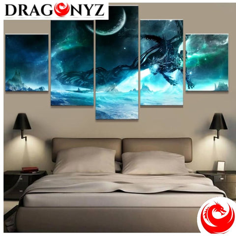 DRAGON PAINTING - KING DRAGON FRAME