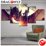 DRAGON PAINTING - KNIGHT FIGHTING