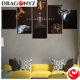 DRAGON PAINTING - MOVIE GAME OF THRONES