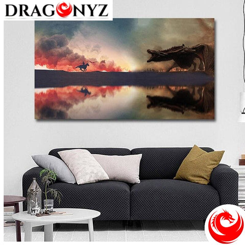 DRAGON PAINTING - SCREAMING DRAGON