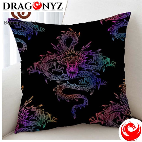 DRAGON PILLOW - PURPLE CHINESE