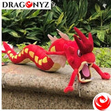 DRAGON PLUSH - RED SHINY AND BLUE