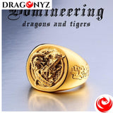 DRAGON RING - 24 K GOLD HIGH QUALITY