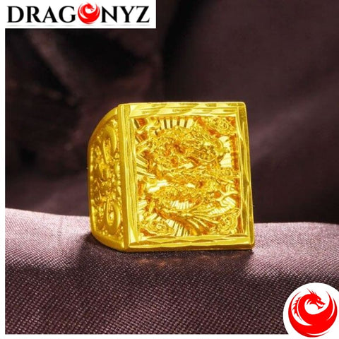 DRAGON RING - ALLUVIAL GOLD