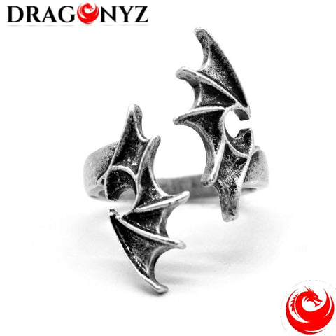 DRAGON RING - SILVER DRAGON WINGS