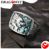 DRAGON RING - YELLOW OR BLUE STONE