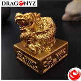 DRAGON STATUE - GOLDEN CHINESE